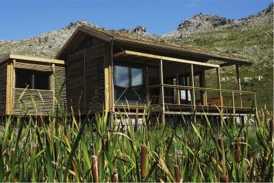 The cabins touch the site lightly in order to have the lowest impact on the sensitive ecology