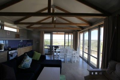 Eco-cabins are simple but comfortable